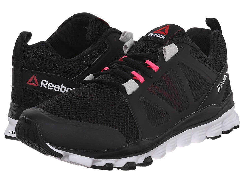 Reebok - Hexaffect Run 3.0 MTM (Black/Steel/Pink) Women's Running Shoes