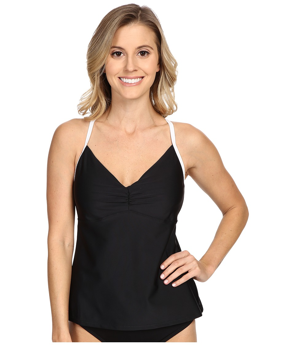 Speedo - Strappy Tankini (Speedo Black) Women's Swimwear