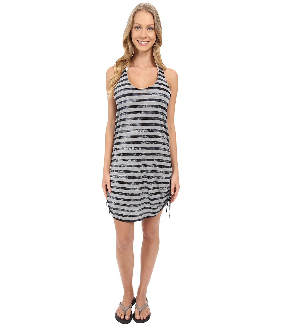 Speedo - Tie-Dye Stripe Shirred Tank Dress Cover-Up (Speedo Black) Women's Dress