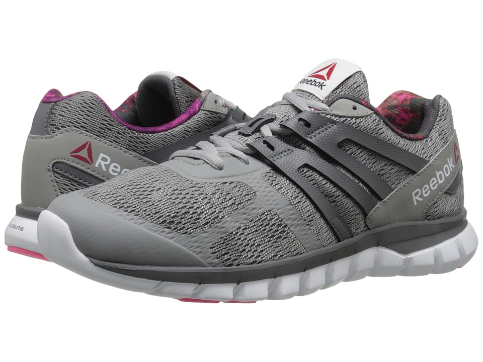 Reebok - Sublite XT Cushion MT (Tin Grey/Shark/Solar Pink/White) Women