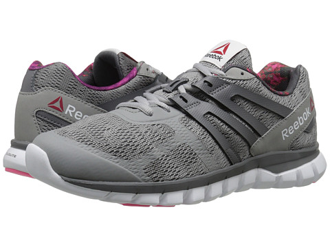 Reebok - Sublite XT Cushion MT (Tin Grey/Shark/Solar Pink/White) Women's Running Shoes