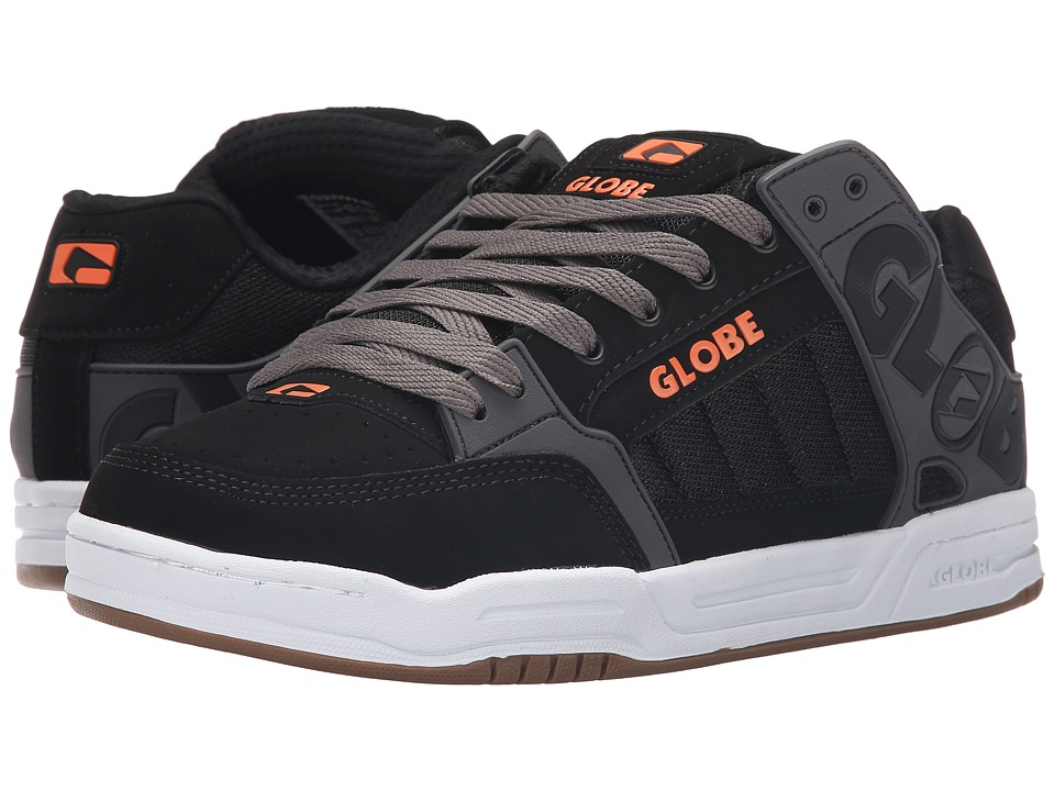 Globe - Tilt (Black/Charcoal/Orange) Men's Skate Shoes