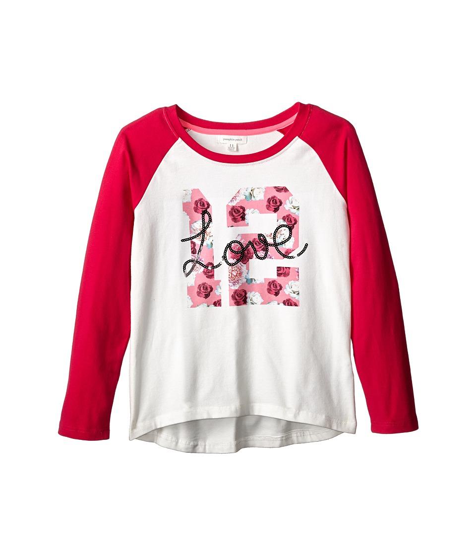 Pumpkin Patch Kids - Dance Academy Raglan Sleeve Graphic Tee (Little Kids/Big Kids) (Vanilla) Girl