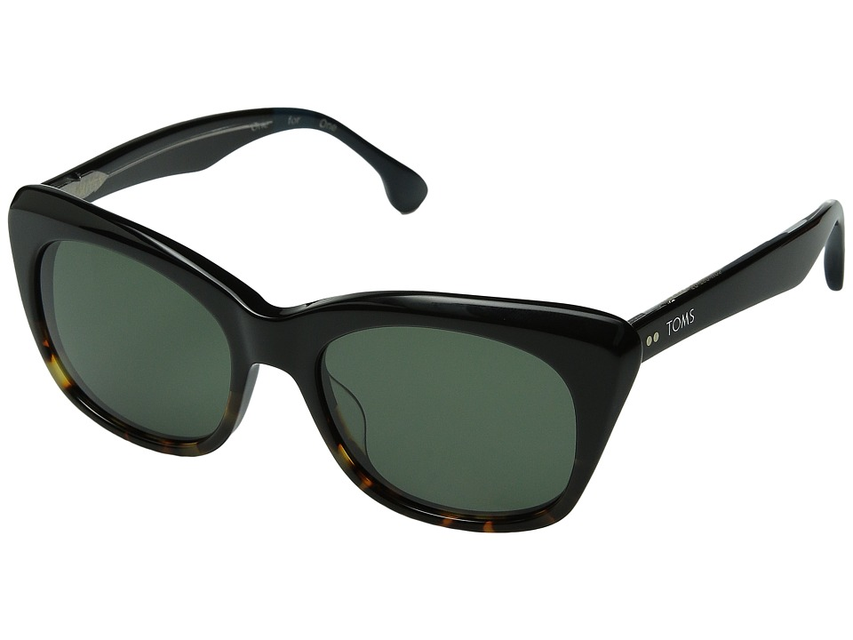 TOMS - Kitty (Black/Tortoise Fade) Fashion Sunglasses