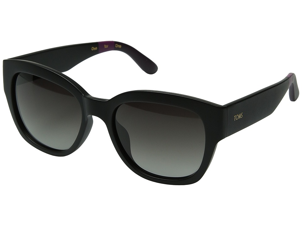 TOMS - Audrina (Matte Black) Fashion Sunglasses