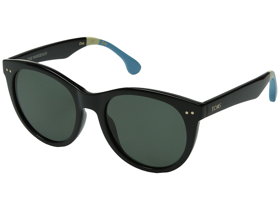 TOMS - Margeaux Polarized (Black) Fashion Sunglasses