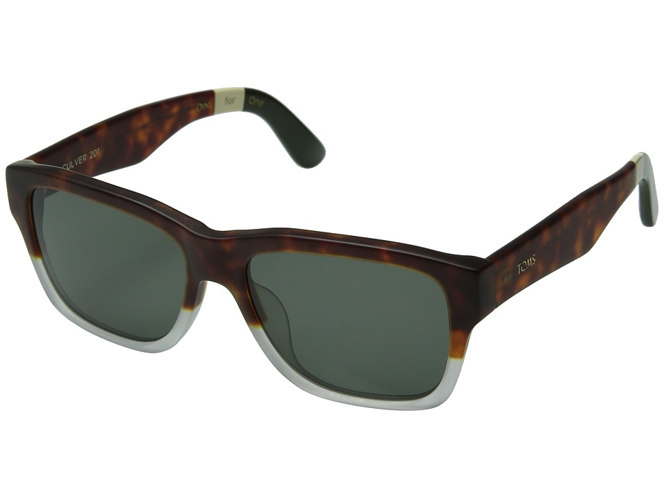 TOMS - Culver 201 (Tortoise/Crystal Fade) Fashion Sunglasses