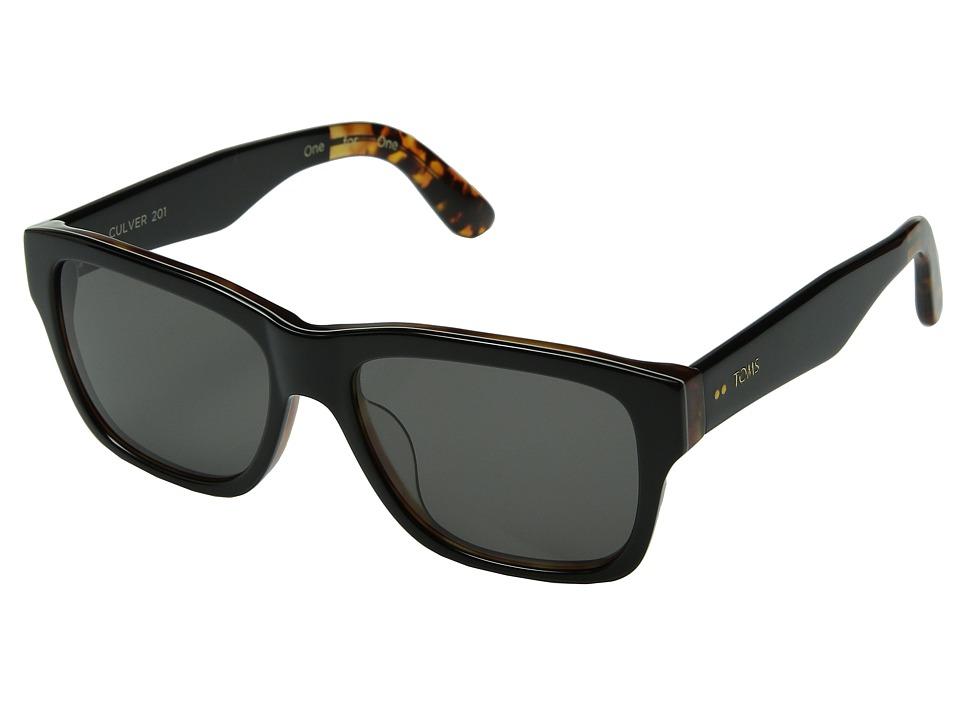 TOMS - Culver 201 (Black/Honey Tortoise) Fashion Sunglasses