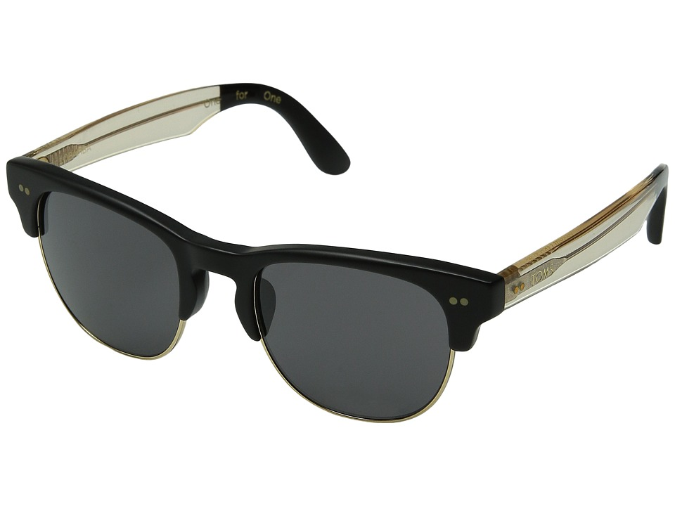 TOMS - Lobamba (Matte Black) Fashion Sunglasses