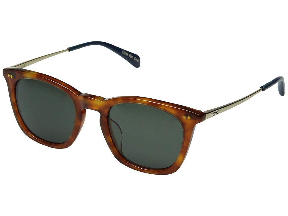 TOMS - Maxwell (Honey Tortoise) Fashion Sunglasses