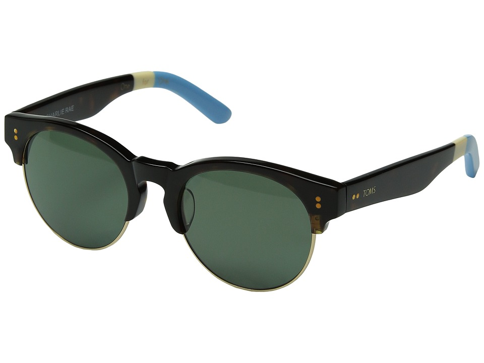 TOMS - Charlie Rae Polarized (Tortoise) Fashion Sunglasses