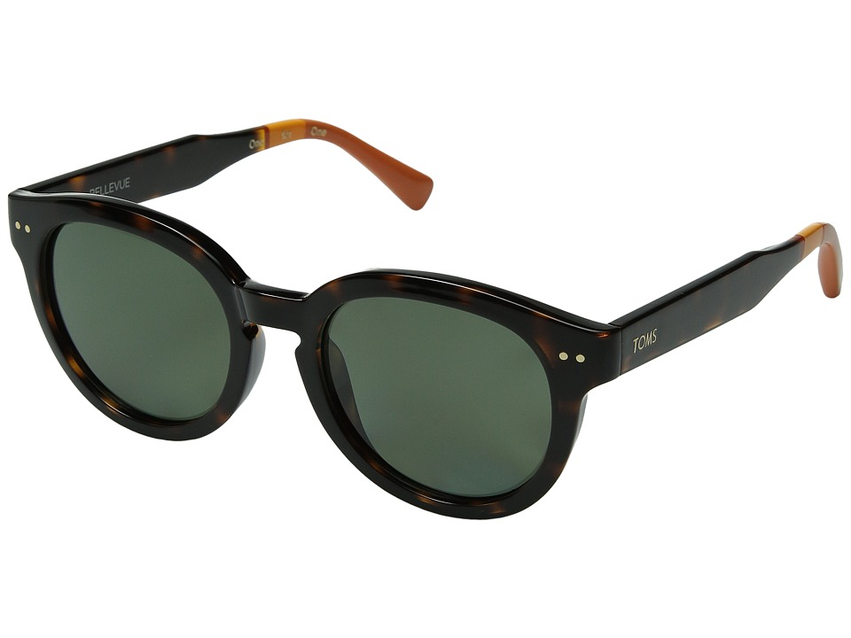 TOMS - Bellevue Polarized (Dark Tortoise) Fashion Sunglasses