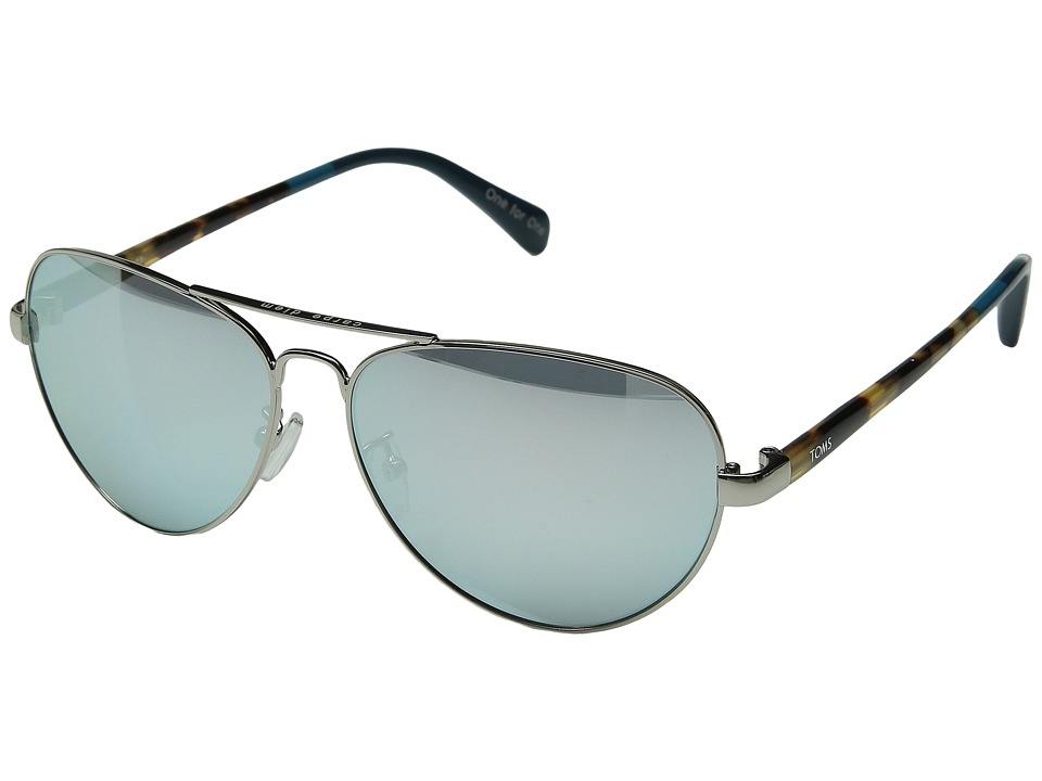 TOMS - Maverick 201 (Silver/Chrome Mirror) Fashion Sunglasses