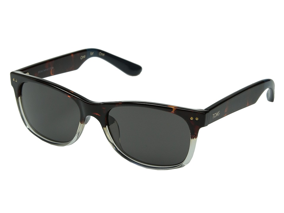 TOMS - Beachmaster (Tortoise/Crystal Fade) Fashion Sunglasses