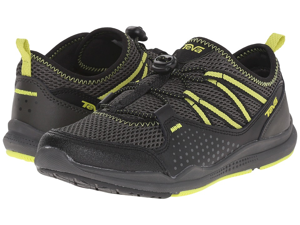 Teva Kids - Scamper (Little Kid/Big Kid) (Black/Grey/Lime) Boys Shoes