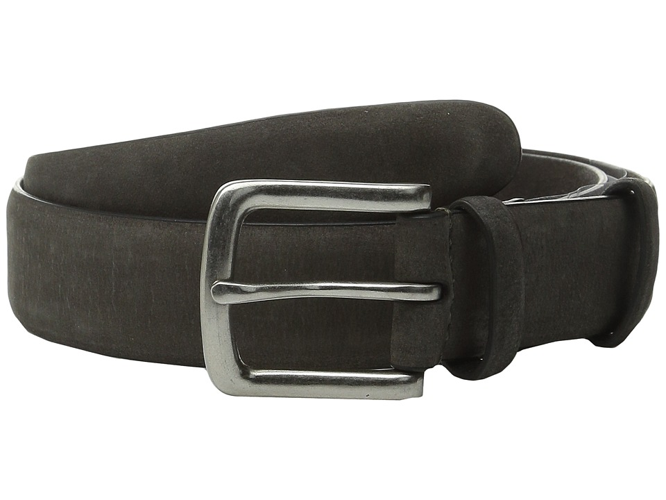 John Varvatos - 32mm Burnished Nubuck Belt (Grey) Men's Belts