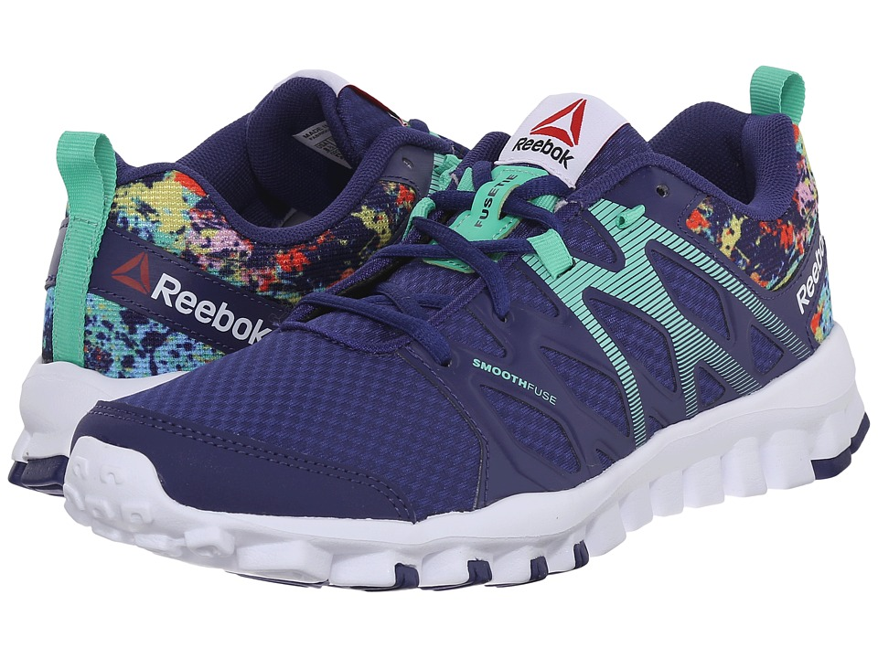 Reebok - RealFlex Train 4.0 (Night Beacon/Electric Blue/Icono Pink/White) Women's Cross Training Shoes