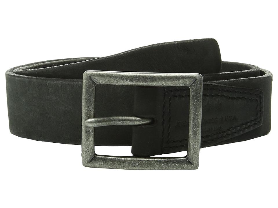 John Varvatos - 35mm Full Weight Harness Leather Belt (Black) Men's Belts