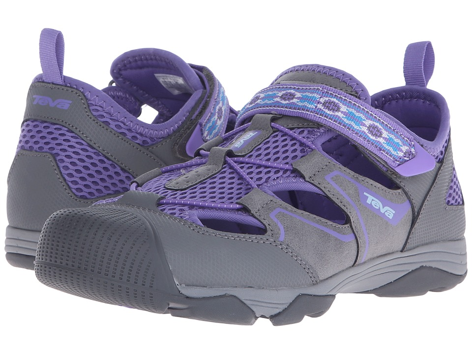 Teva Kids - Rollick (Little Kid/Big Kid) (Grey/Purple) Girl