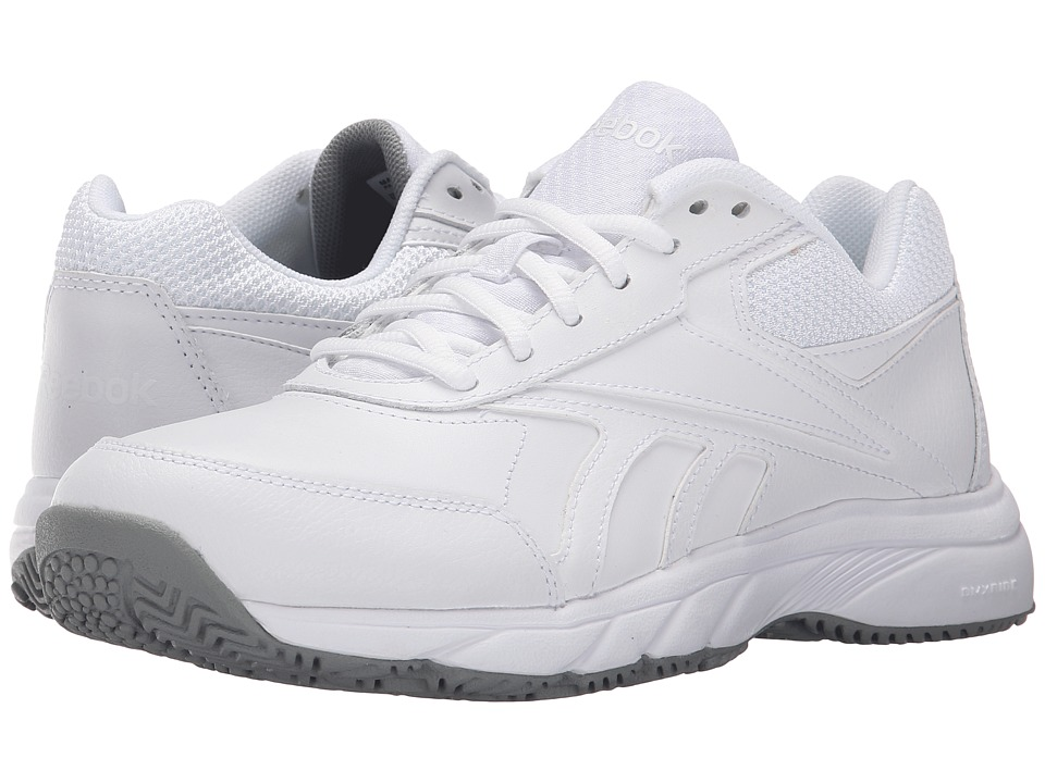 Reebok - Work 'N Cushion 2.0 (White/Flat Grey) Women's Walking Shoes