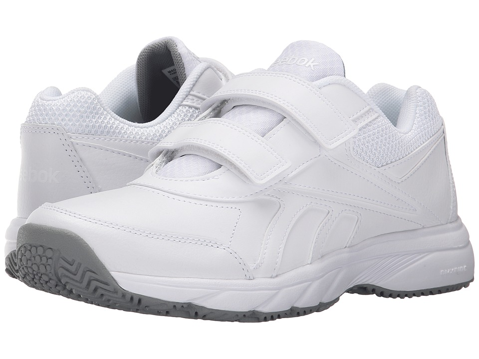 Reebok - Work 'N Cushion KC 2.0 (White/Flat Grey) Women's Walking Shoes