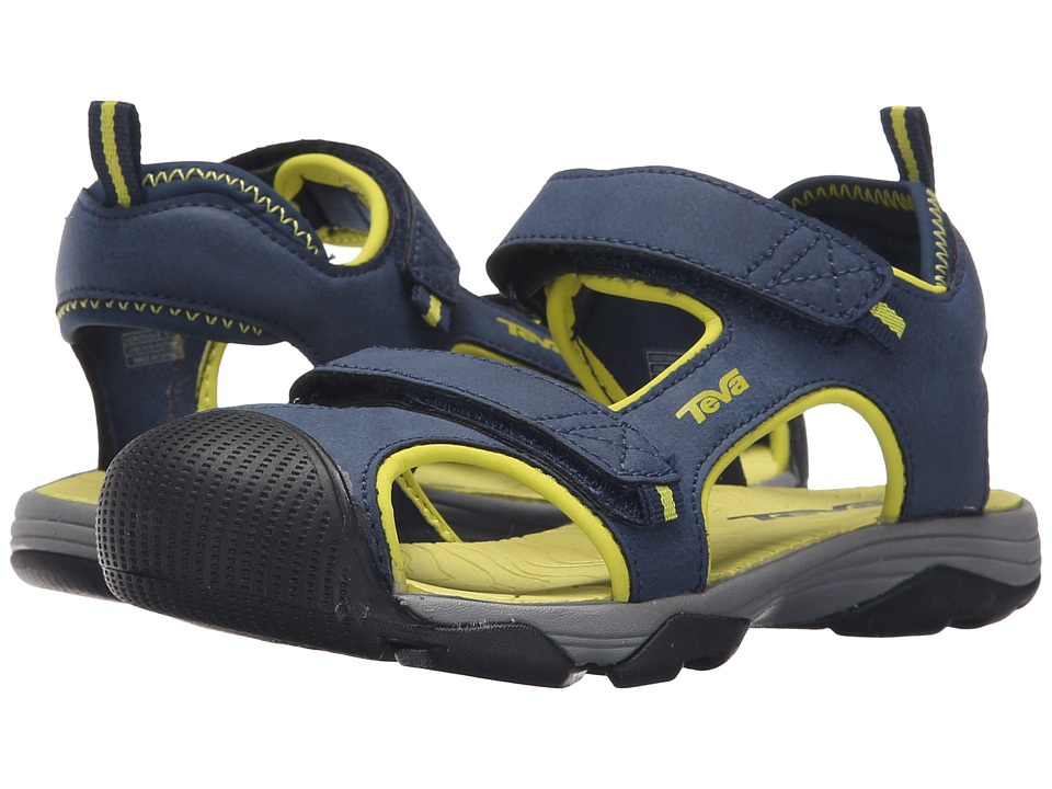 Teva Kids - Toachi 4 (Little Kid/Big Kid) (Navy/Lime) Boys Shoes