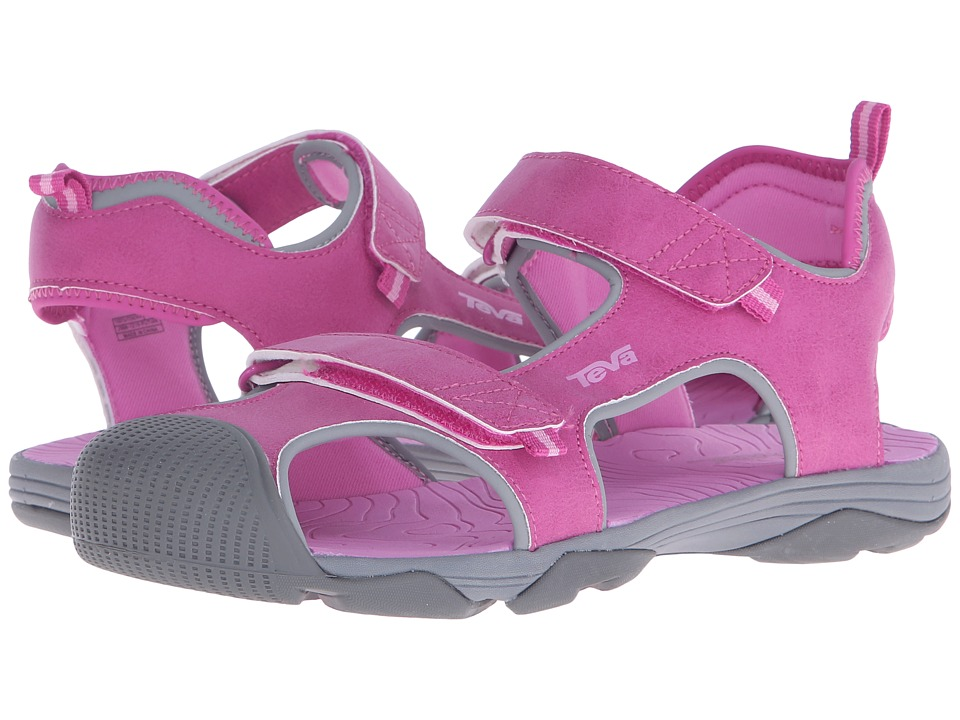 Teva Kids - Toachi 4 (Little Kid/Big Kid) (Pink/Grey) Girls Shoes