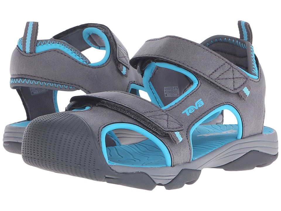 Teva Kids - Toachi 4 (Little Kid/Big Kid) (Dark Grey/Blue) Girls Shoes