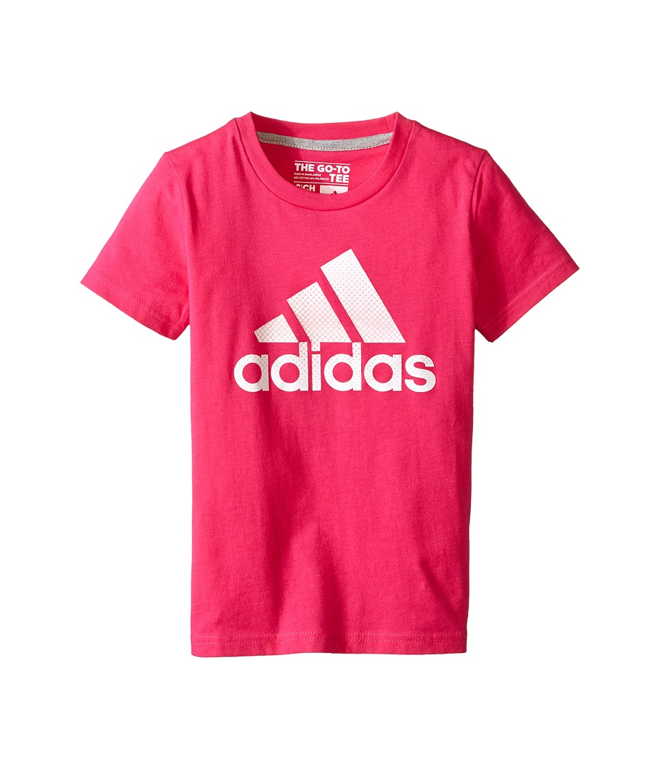 adidas Kids - 30's Tee Radiate Girls (Big Kids) (Pink/White) Girl's T Shirt