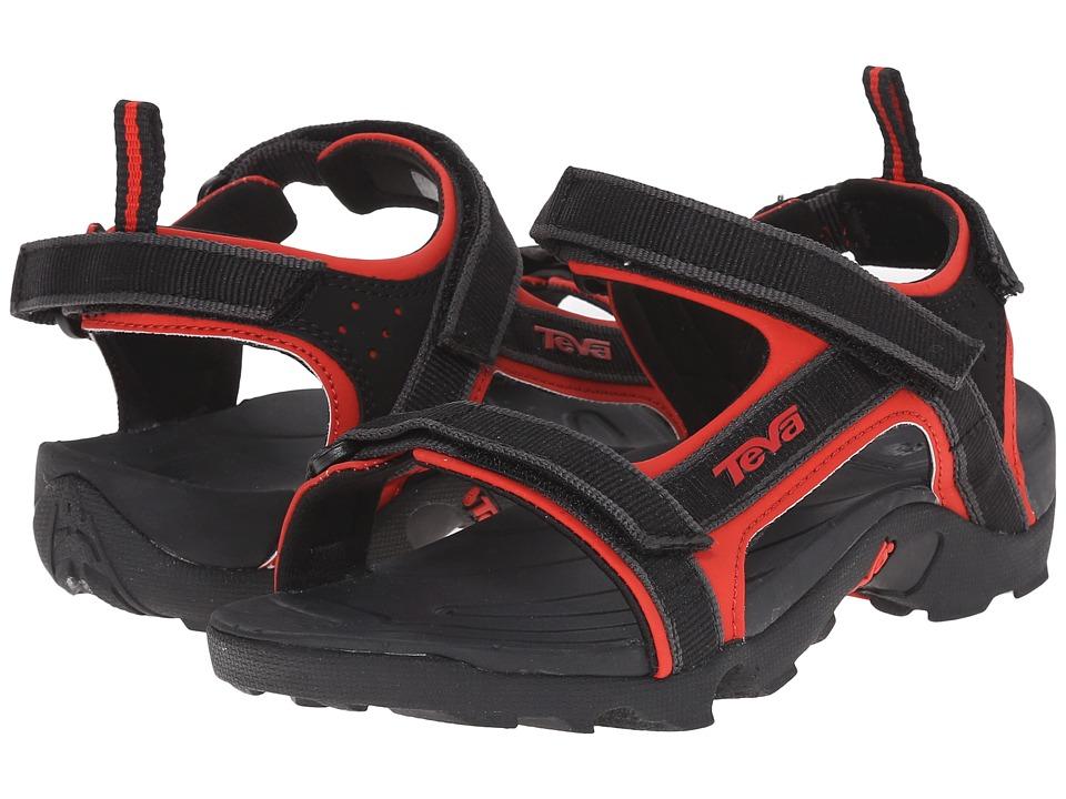Teva Kids Tanza (Little Kid/Big Kid) (Black/Red) Boys Shoes