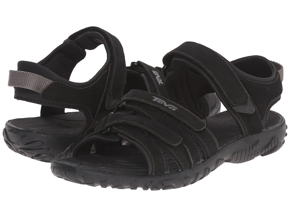 Teva Kids - Tirra Leather (Little Kid/Big Kid) (Black) Girls Shoes