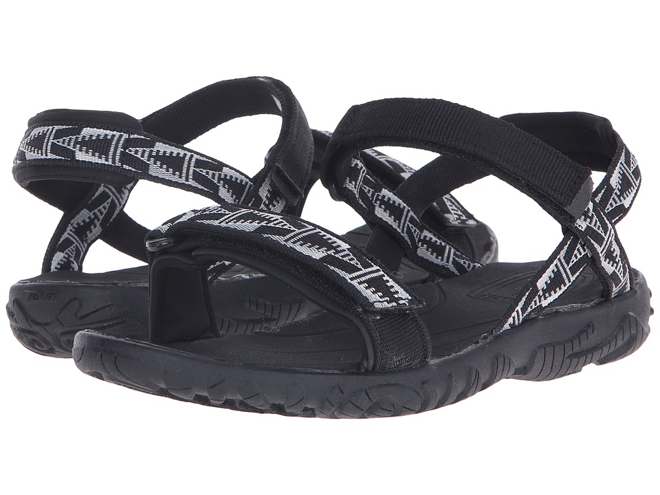 Teva Kids - Nova (Little Kid/Big Kid) (Black/White) Girls Shoes