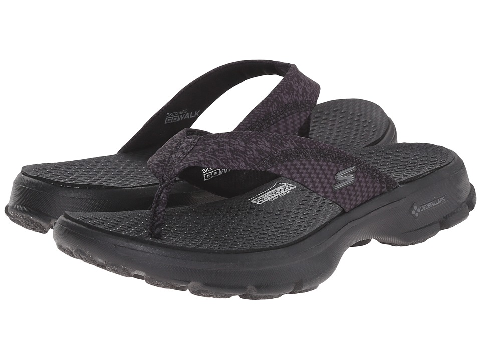 SKECHERS Performance - Go Walk - Piazz (Black) Women's Shoes