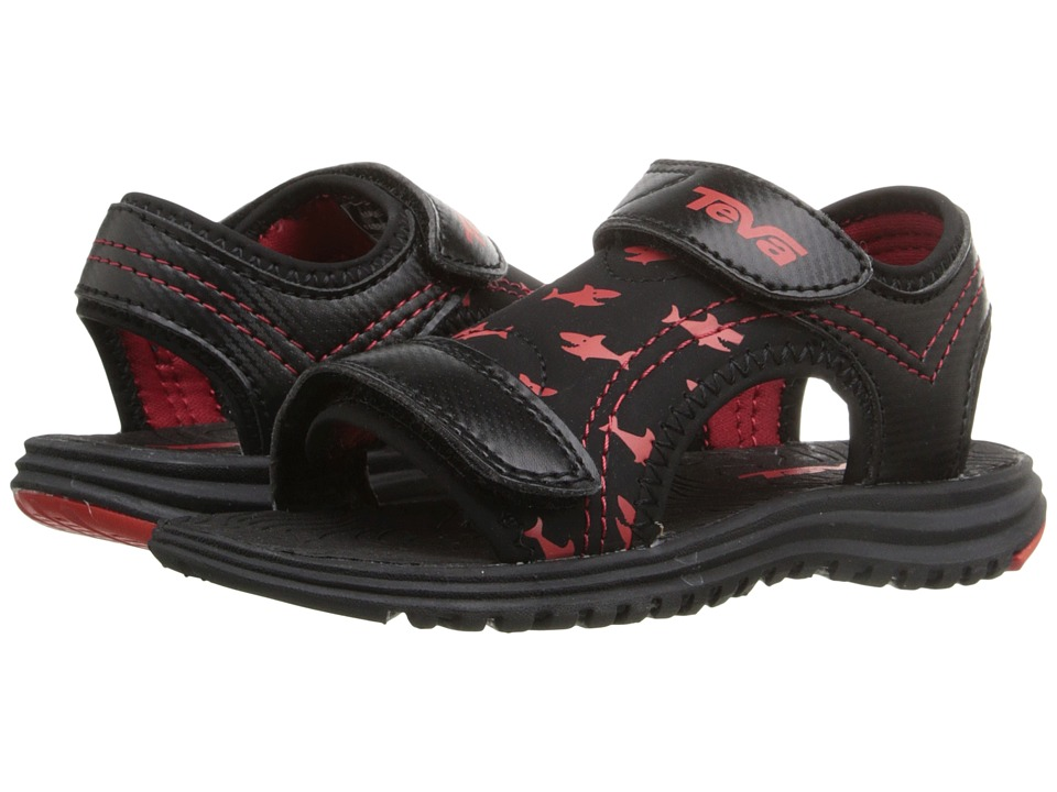 Teva Kids - Psyclone 6 (Toddler) (Black/Red Shark) Boys Shoes