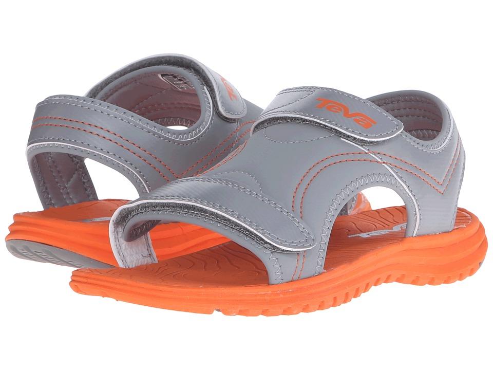 Teva Kids Psyclone 6 (Little Kid) (Grey/Orange) Boys Shoes