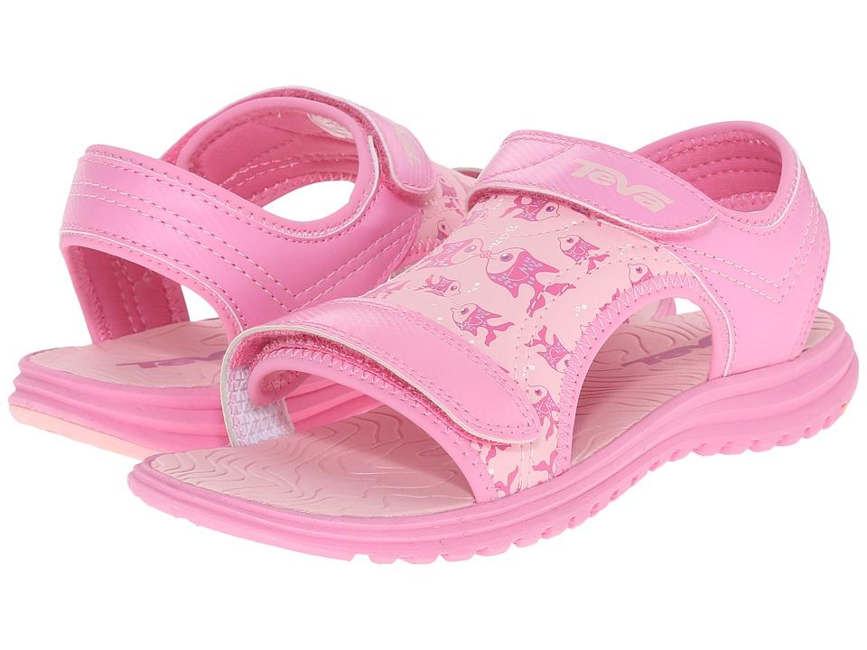 Teva Kids Psyclone 6 (Little Kid/Big Kid) (Kissing Fish Pink) Girls Shoes