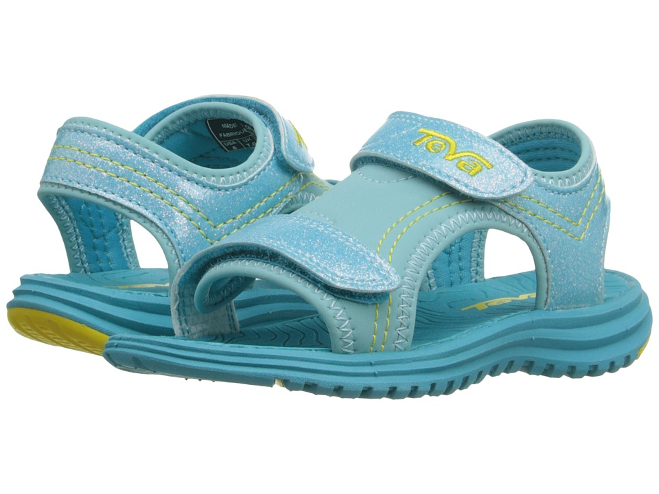Teva Kids - Psyclone 6 (Toddler) (Turquoise Glitter) Girls Shoes