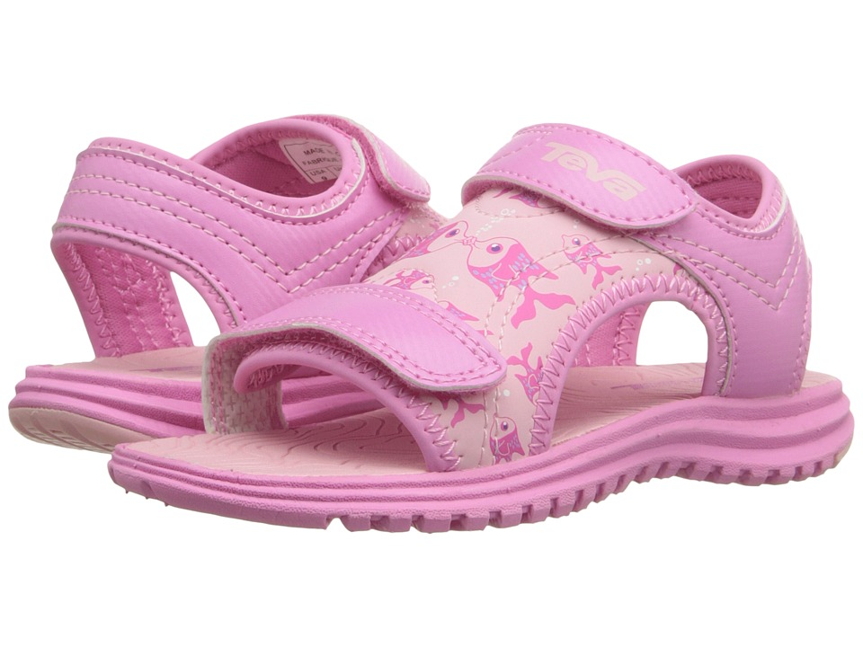 Teva Kids - Psyclone 6 (Toddler) (Kissing Fish Pink) Girls Shoes