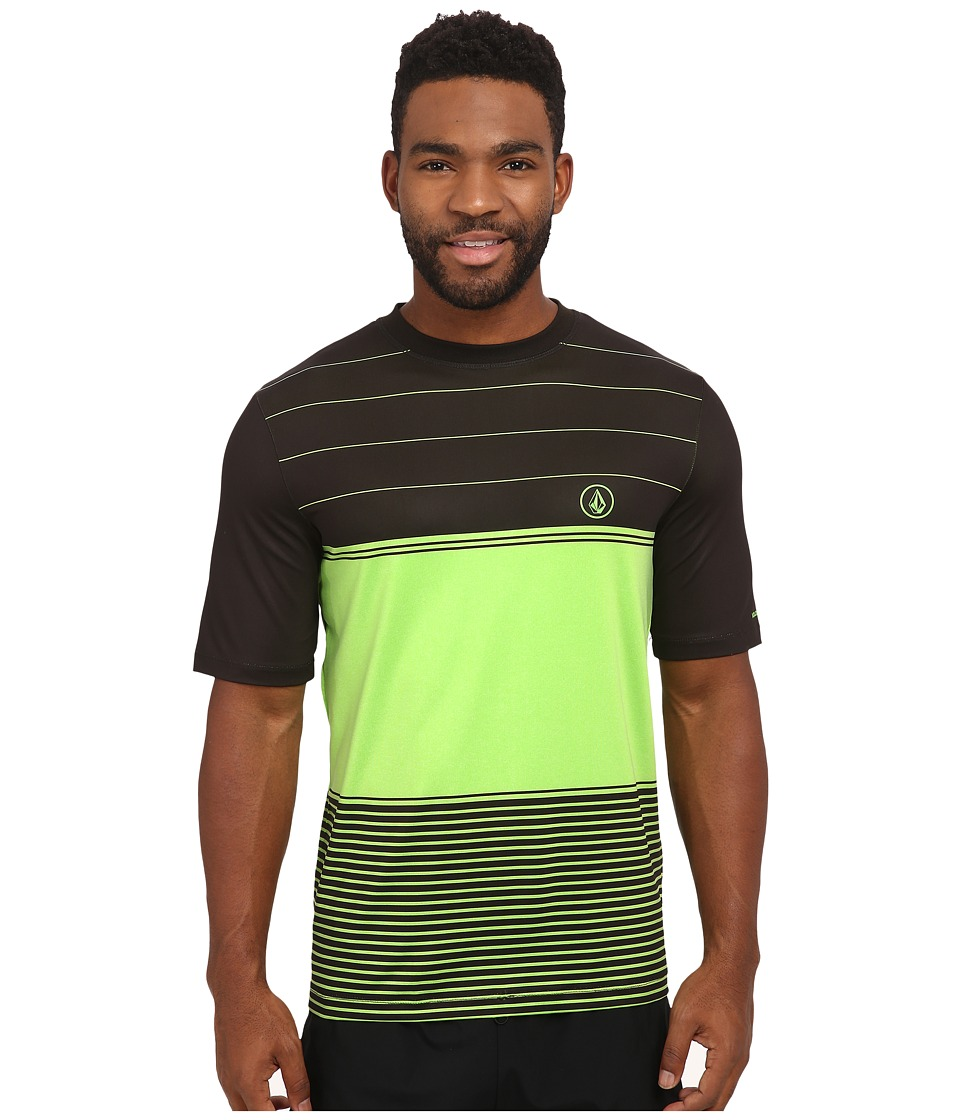 Volcom - Sub Stripe Short Sleeve Shirt (Electric Green) Men's Short Sleeve Pullover