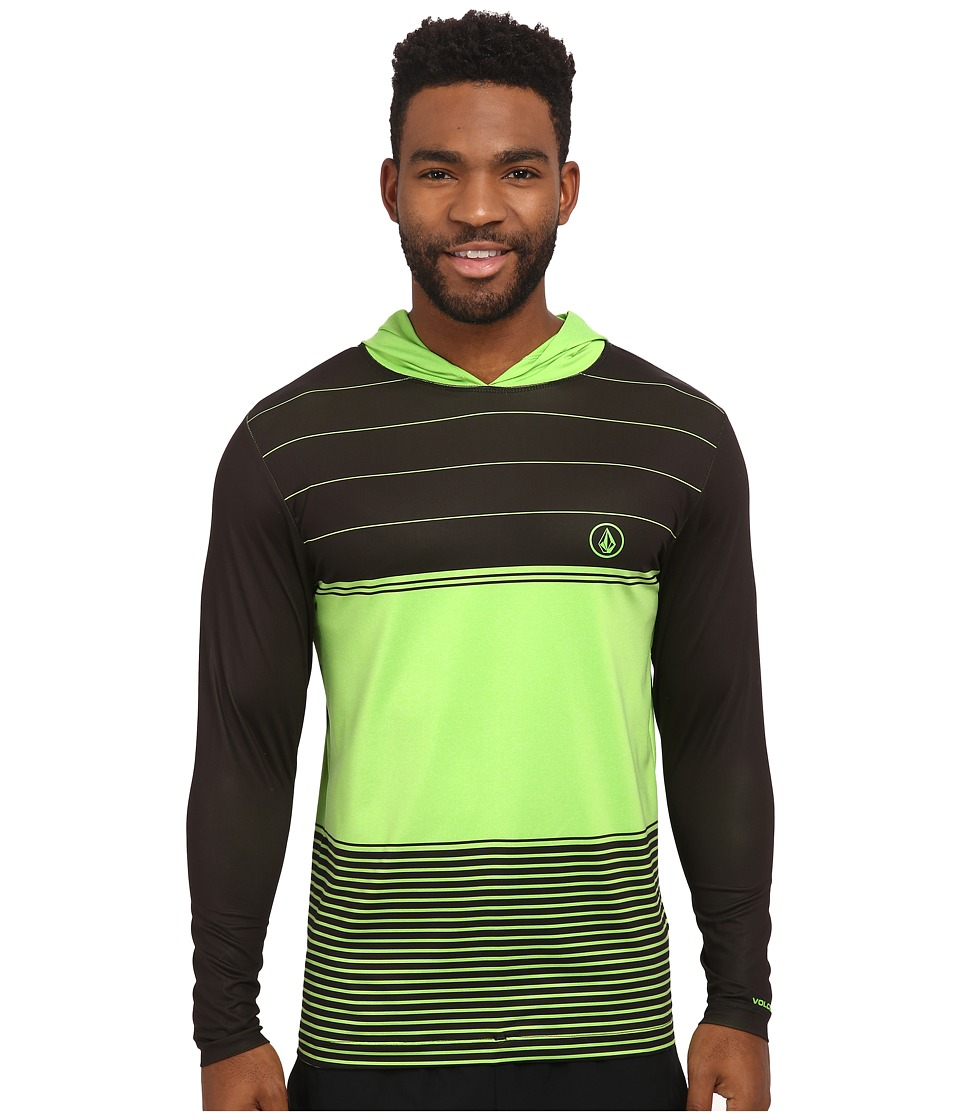 Volcom - Sub Stripe Long Sleeve Shirt (Electric Green) Men