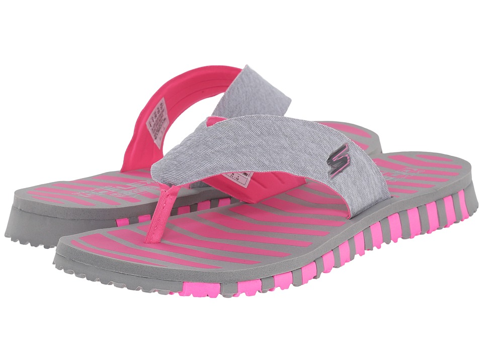SKECHERS Performance - Go Flex- Vitality (Gray/Pink) Women's Shoes