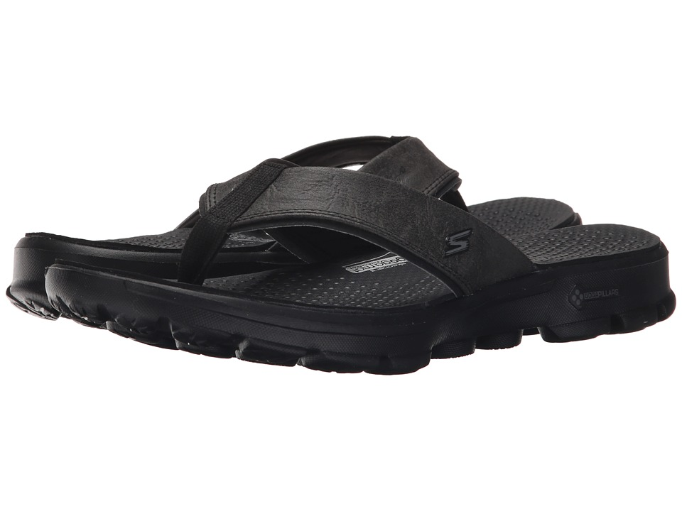 SKECHERS Performance - Go Walk (Black) Men's Sandals