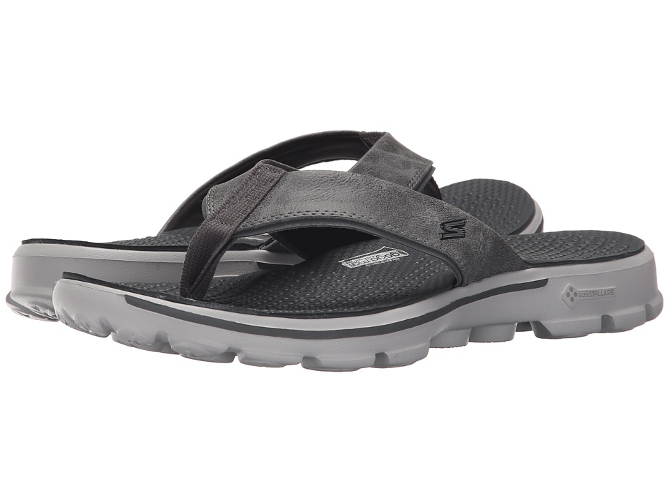 SKECHERS Performance - Go Walk (Charcoal) Men's Sandals