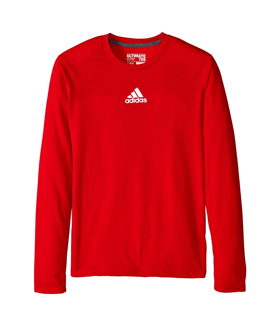 adidas Kids - Ultimate L/S Tee (Little Kids/Big Kids) (Scarlet) Boy's T Shirt