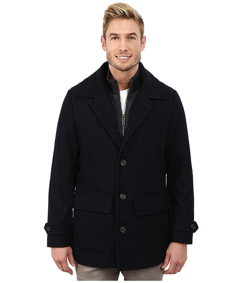 Nautica - Wool Twill Single Button Jacket (Dark Navy) Men