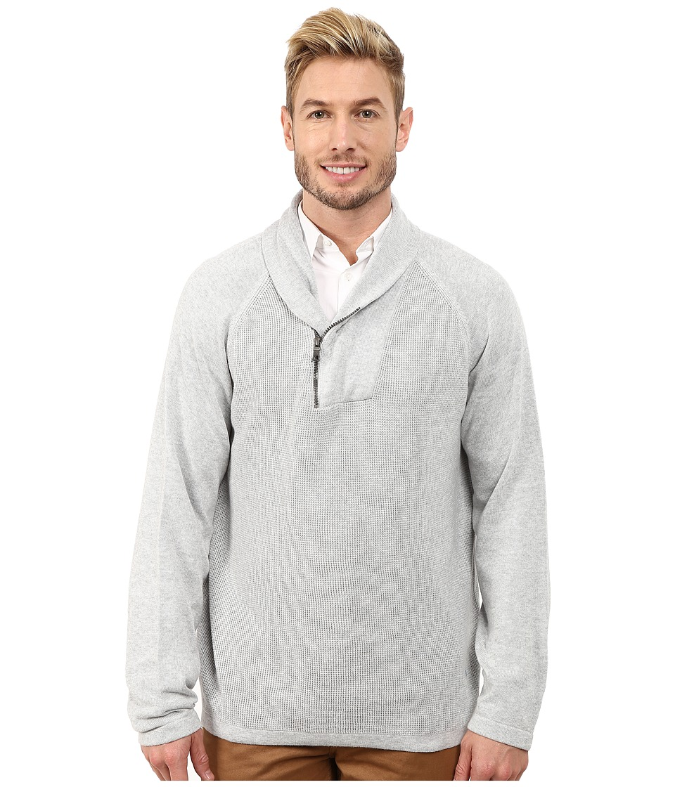 Nautica - 12 Gauge Thermal Shawl (Ice Grey Heather) Men's Sweater