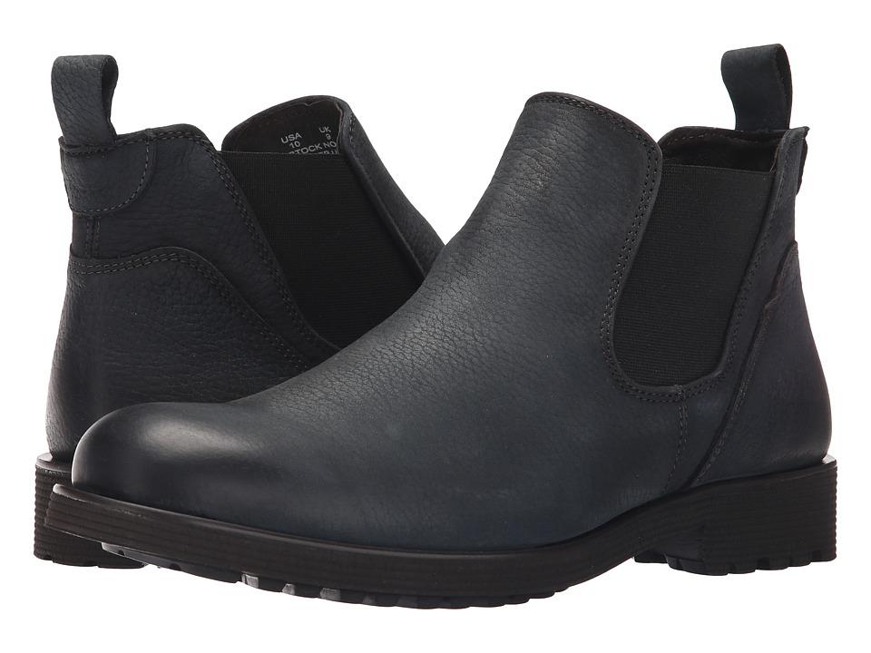 Wolverine - Eckins Slip-On (Vintage Black Leather) Men's Pull-on Boots