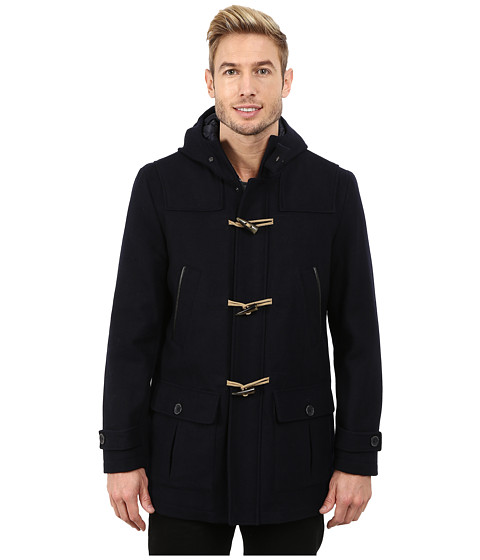 Nautica - Wool Toggle Coat (Dark Navy) Men