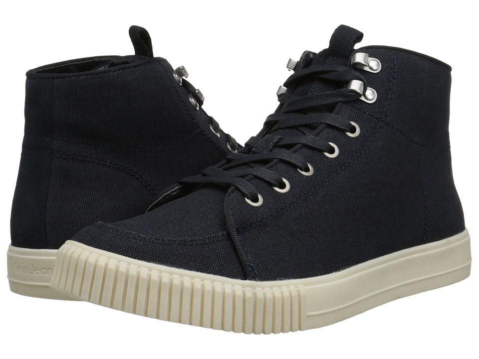 Calvin Klein Jeans - Jenson (Midnight Canvas/Suede/Leather) Men's Shoes