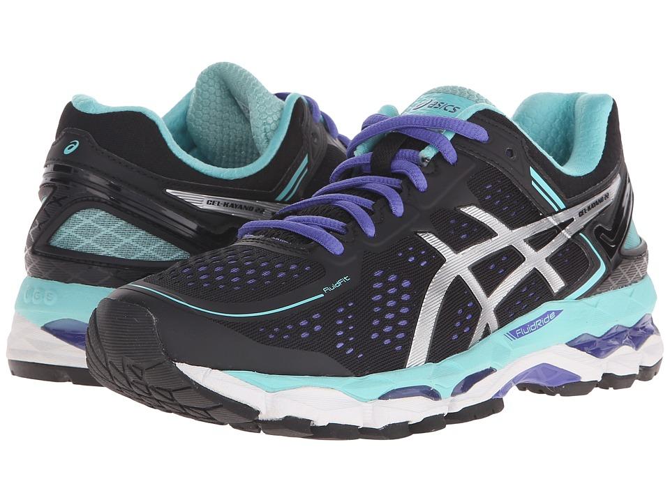 ASICS - GEL-Kayano 22 (Black/Onyx/Pool Blue) Women's Running Shoes